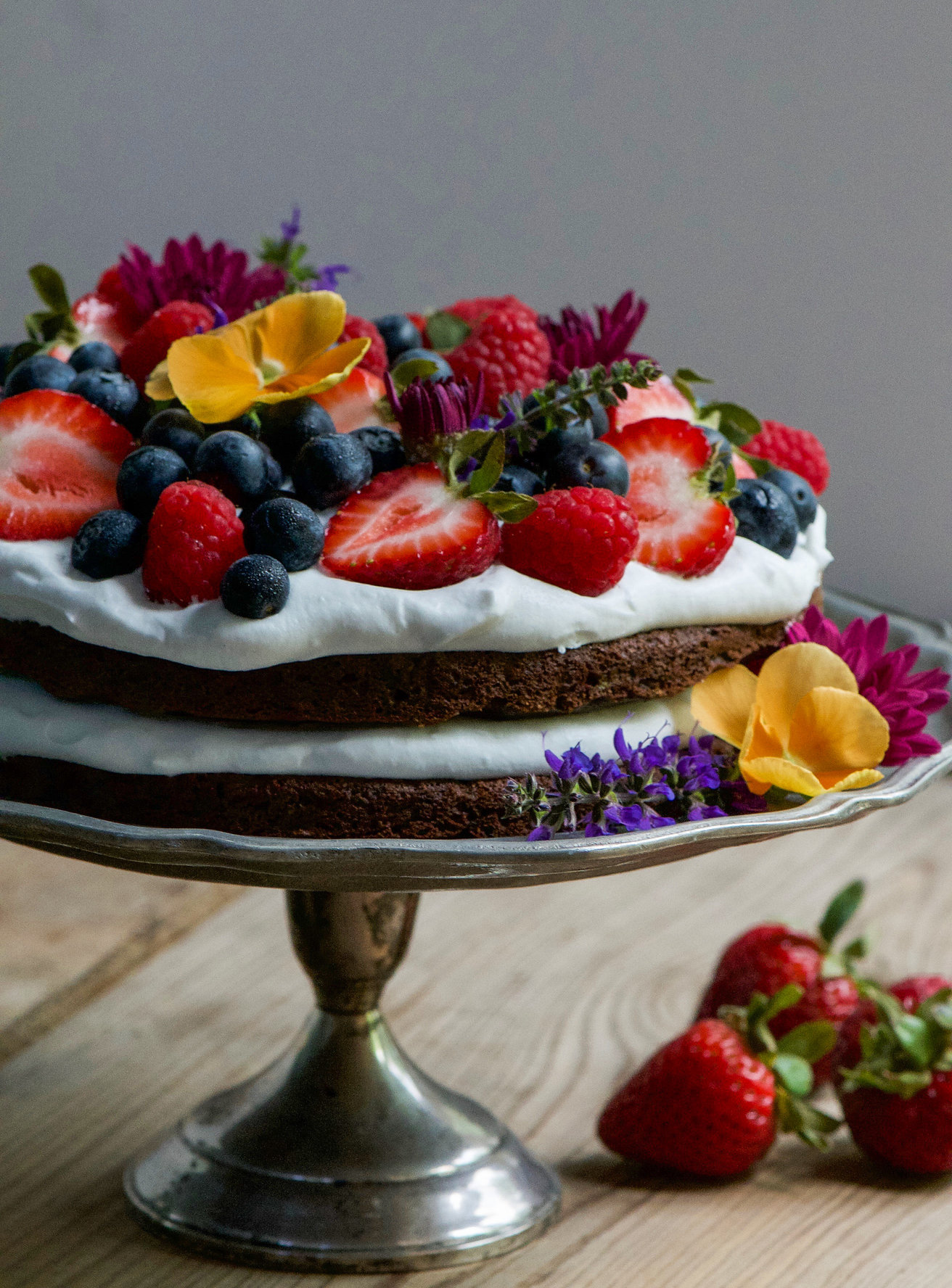 Cake Made With Soda And Fruit