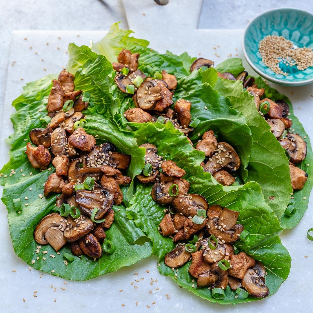 Asian Chicken Lettuce Wraps Clean Recipe