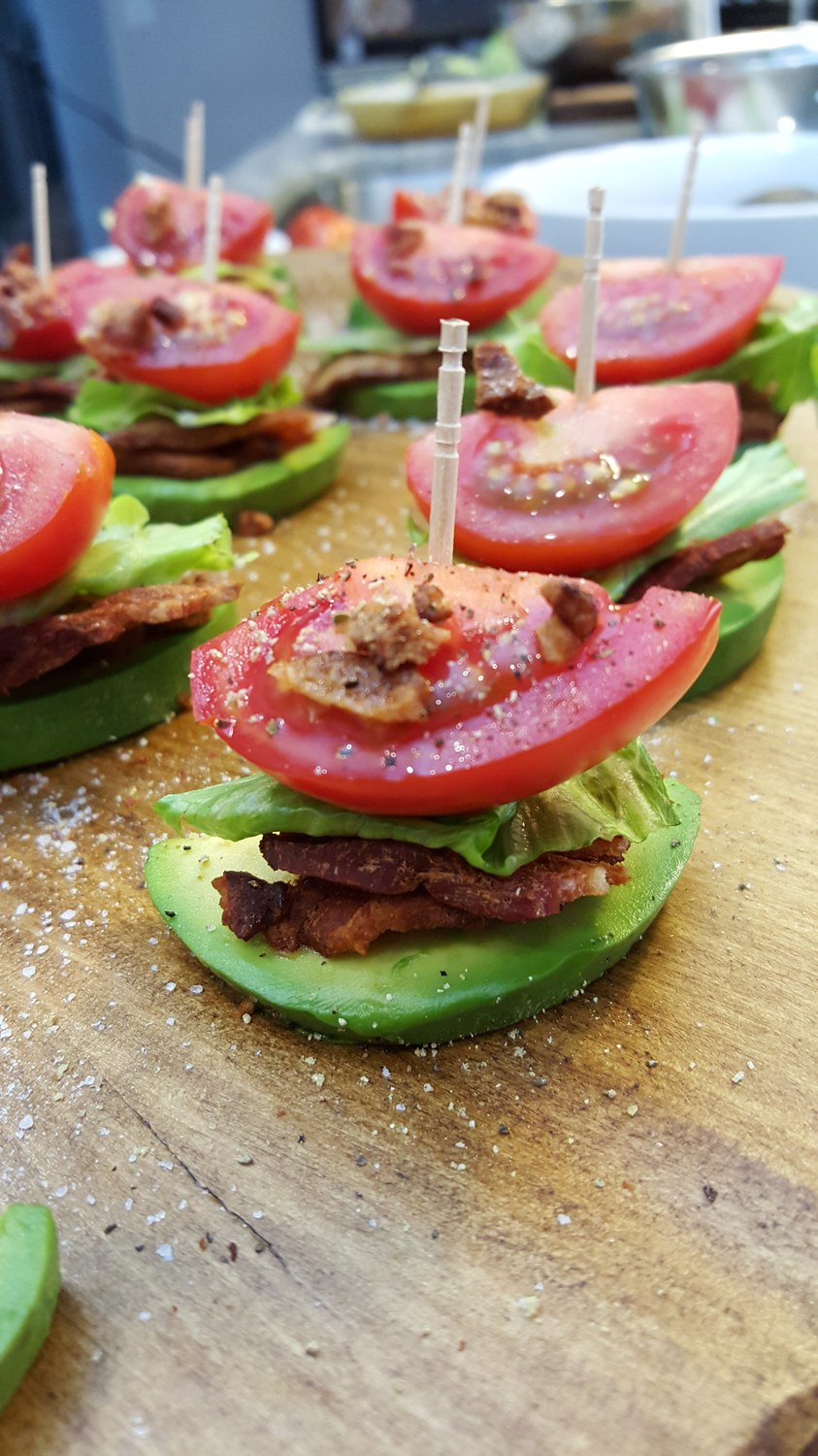 Healthy Snacks BLT Avocado Bites