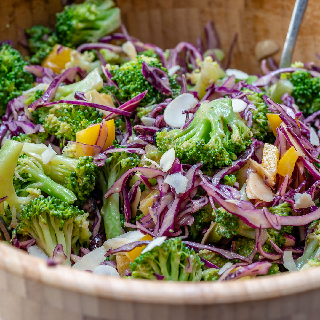 Nutritious Broccoli Red Cabbage Salad