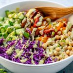 Healthy Chickpea Chopped Salad + Creamy Avocado Dressing