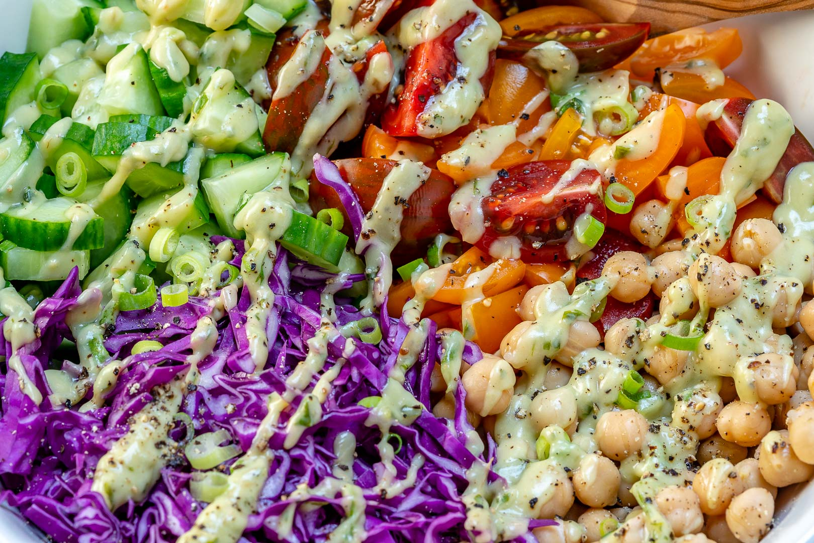 Chickpea Chopped Salad Clean Eating Recipe