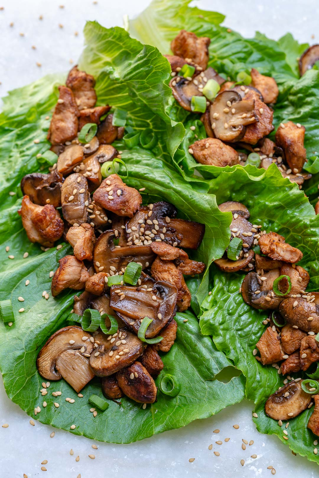 Clean Food Asian Chicken Lettuce Wraps