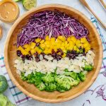 Clean Broccoli + Red Cabbage Salad with Tangy PB Dressing Recipes