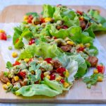 Clean Eats Chicken Taco Lettuce Wraps + Creamy Avocado Sauce