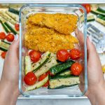 Clean Eats Crispy Sheet Pan Baked Chicken Strips and Zucchini Recipe