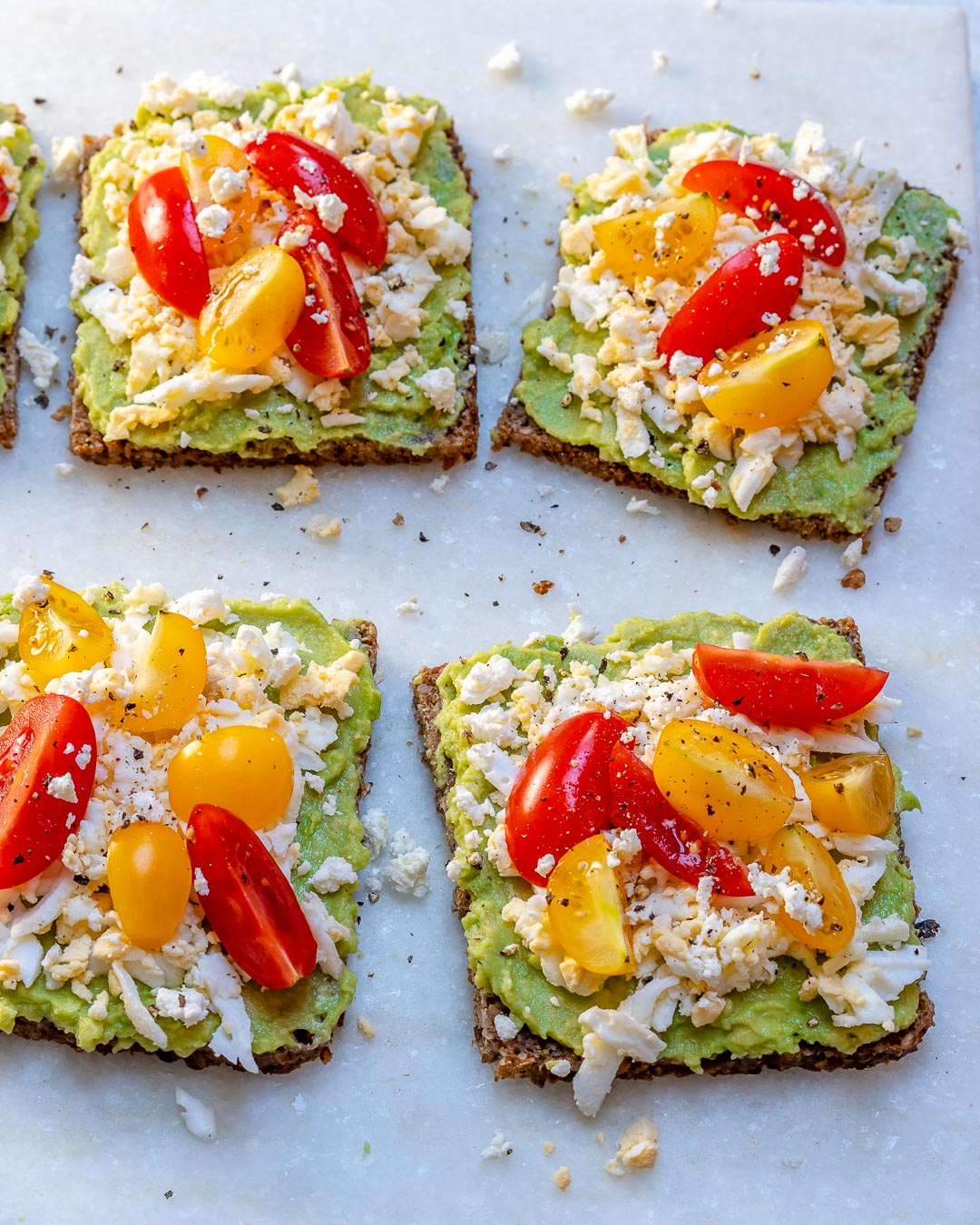 Clean Eats Grated Egg Avocado Toast