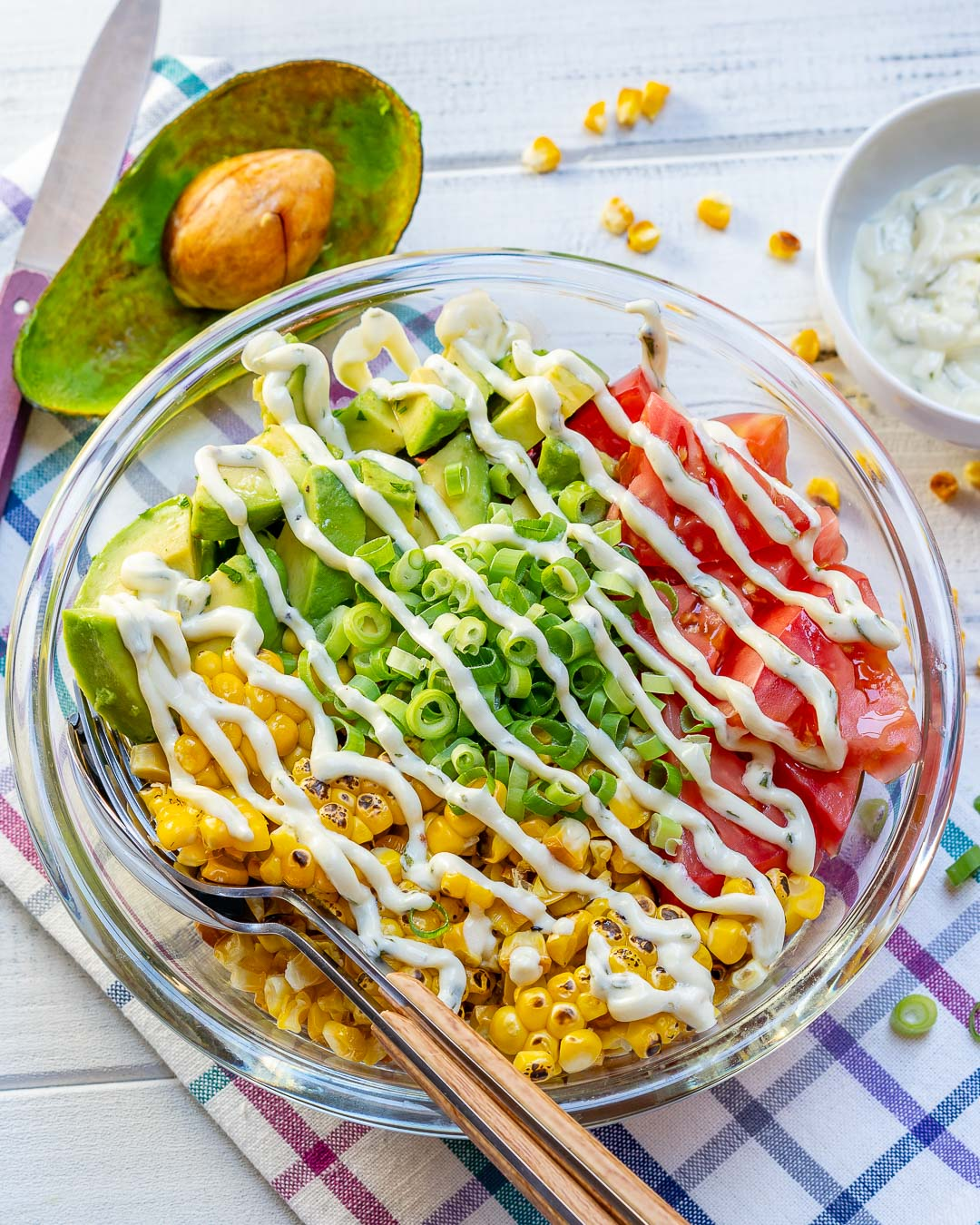Clean Grilled Corn Salad Creamy Lime Dressing Recipe