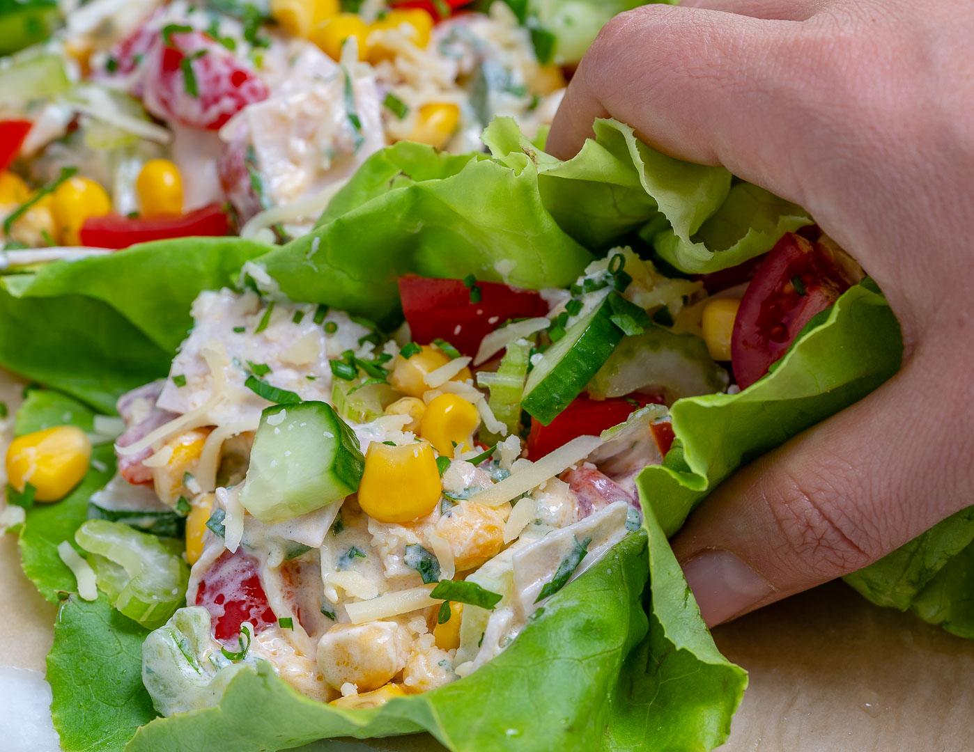 Turkey Salad Lettuce Wraps Easy Dinner Recipes