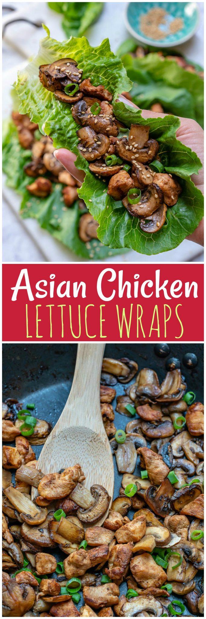 Asian Chicken Lettuce Wraps Recipe by Rachel Maser