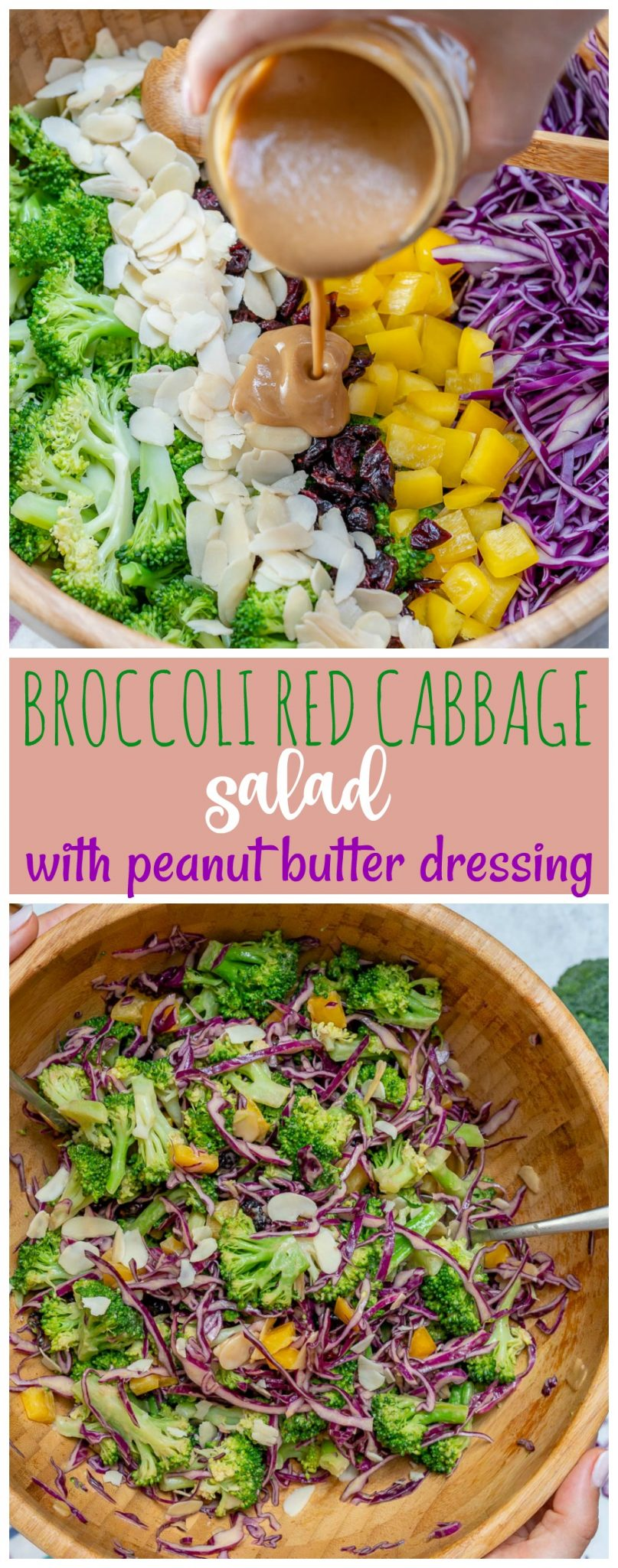 Broccoli and Red Cabbage Clean eating Recipe