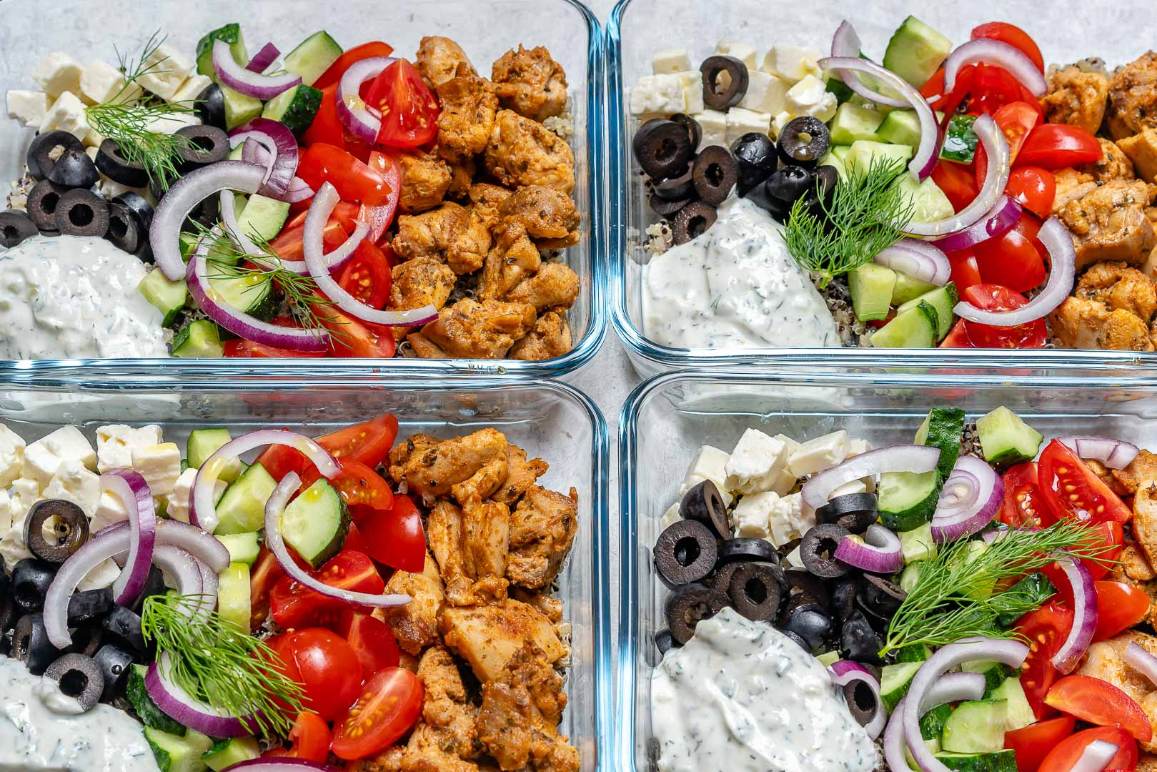 CleanFoodCrush Greek Chicken Meal Prep Bowls