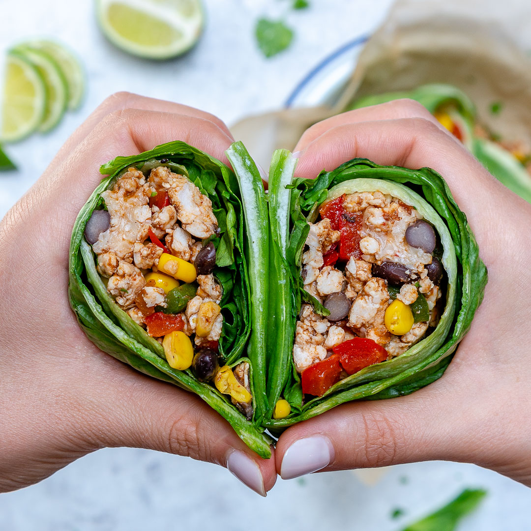 Clean Food Lettuce Wrapped Burritos