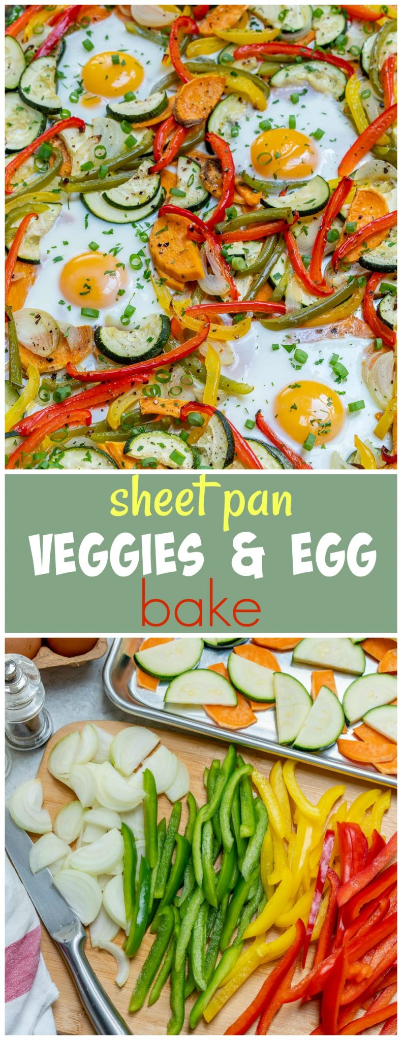Sheet Pan Veggie Egg Bake Breakfast Recipes