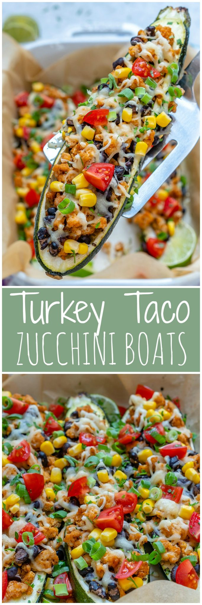CleanFoodCrush Turkey Taco Zucchini Boats