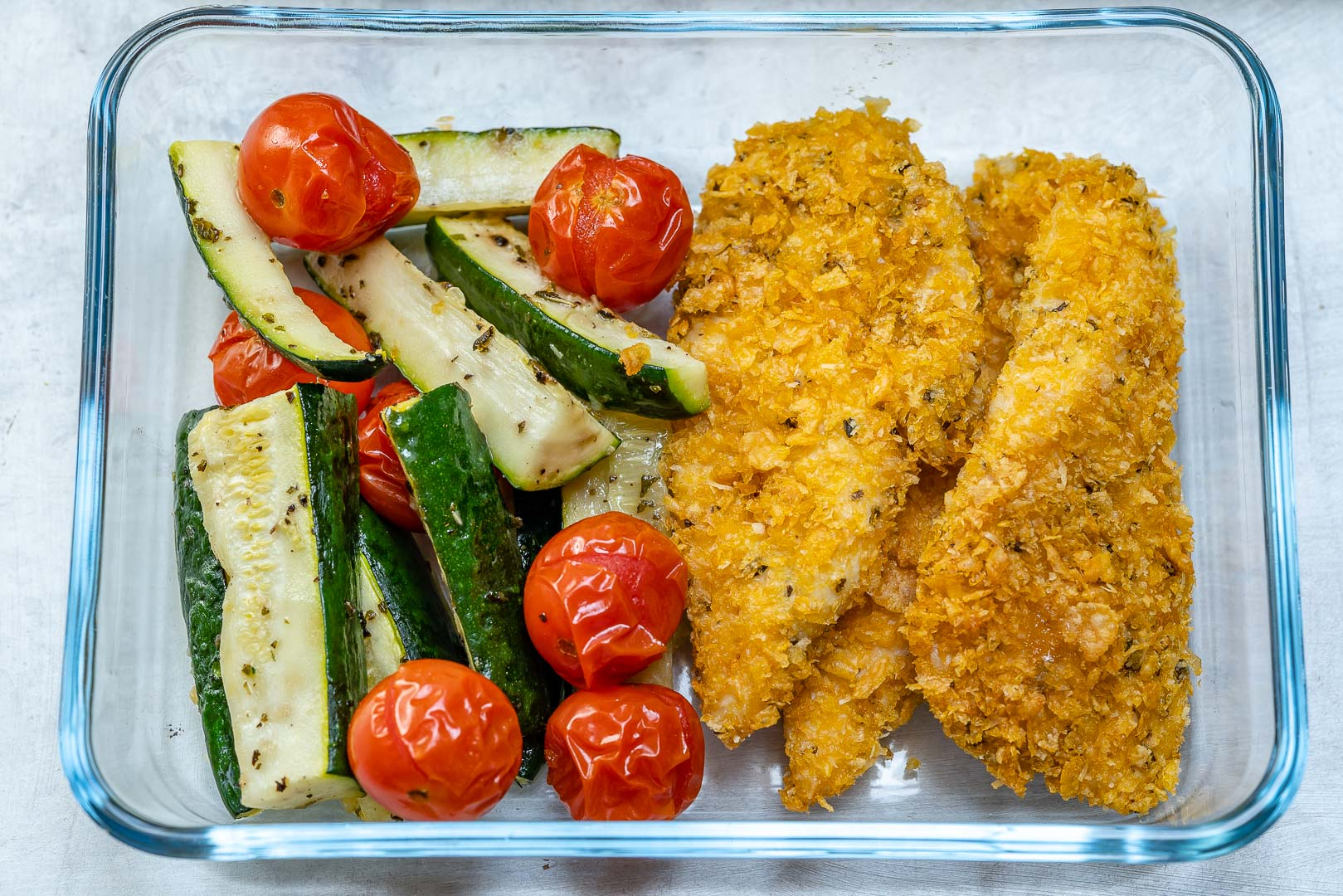 Crispy Chicken Strips Zucchini Recipe