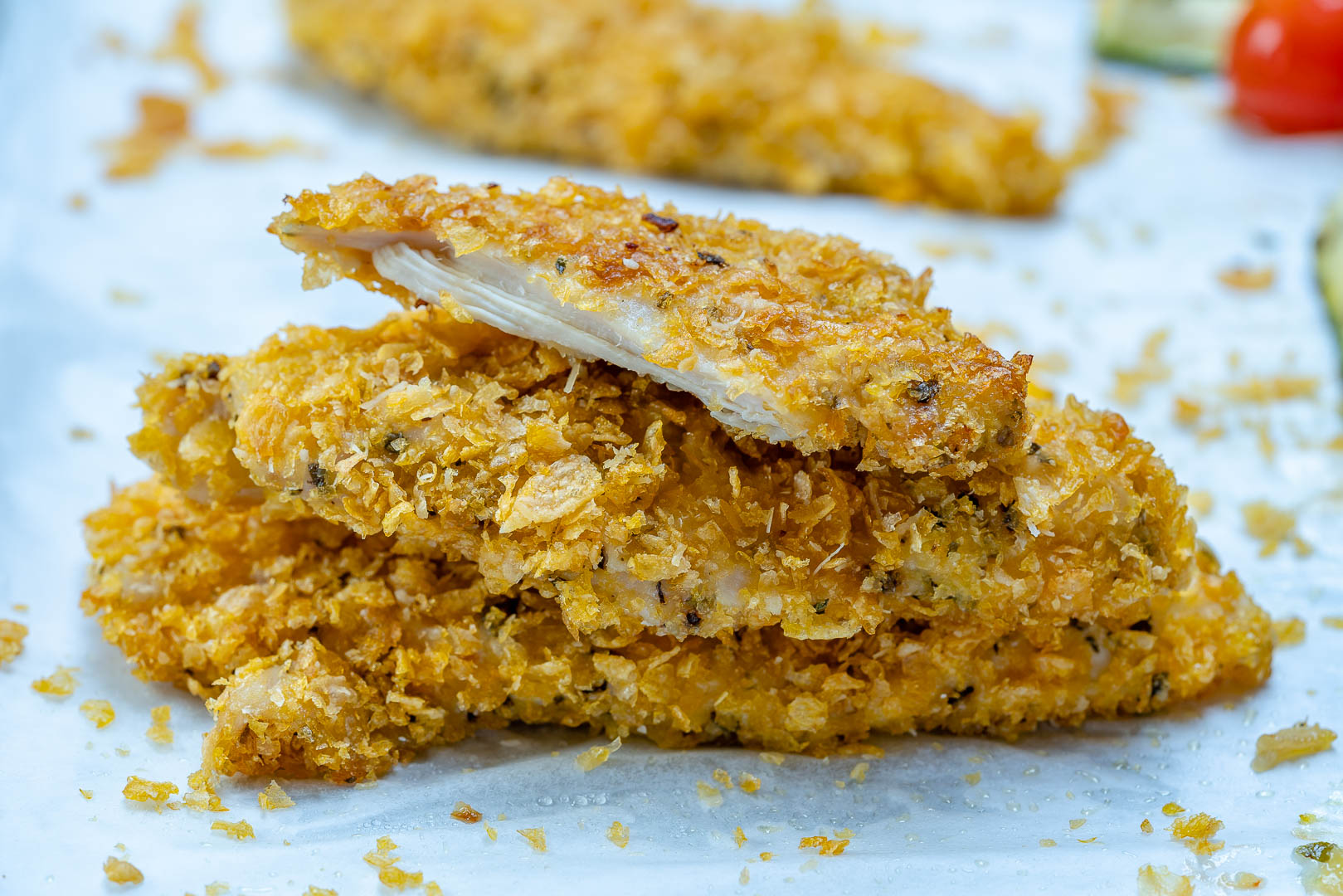 Super Crispy Chicken Strips Zucchini Ingredients