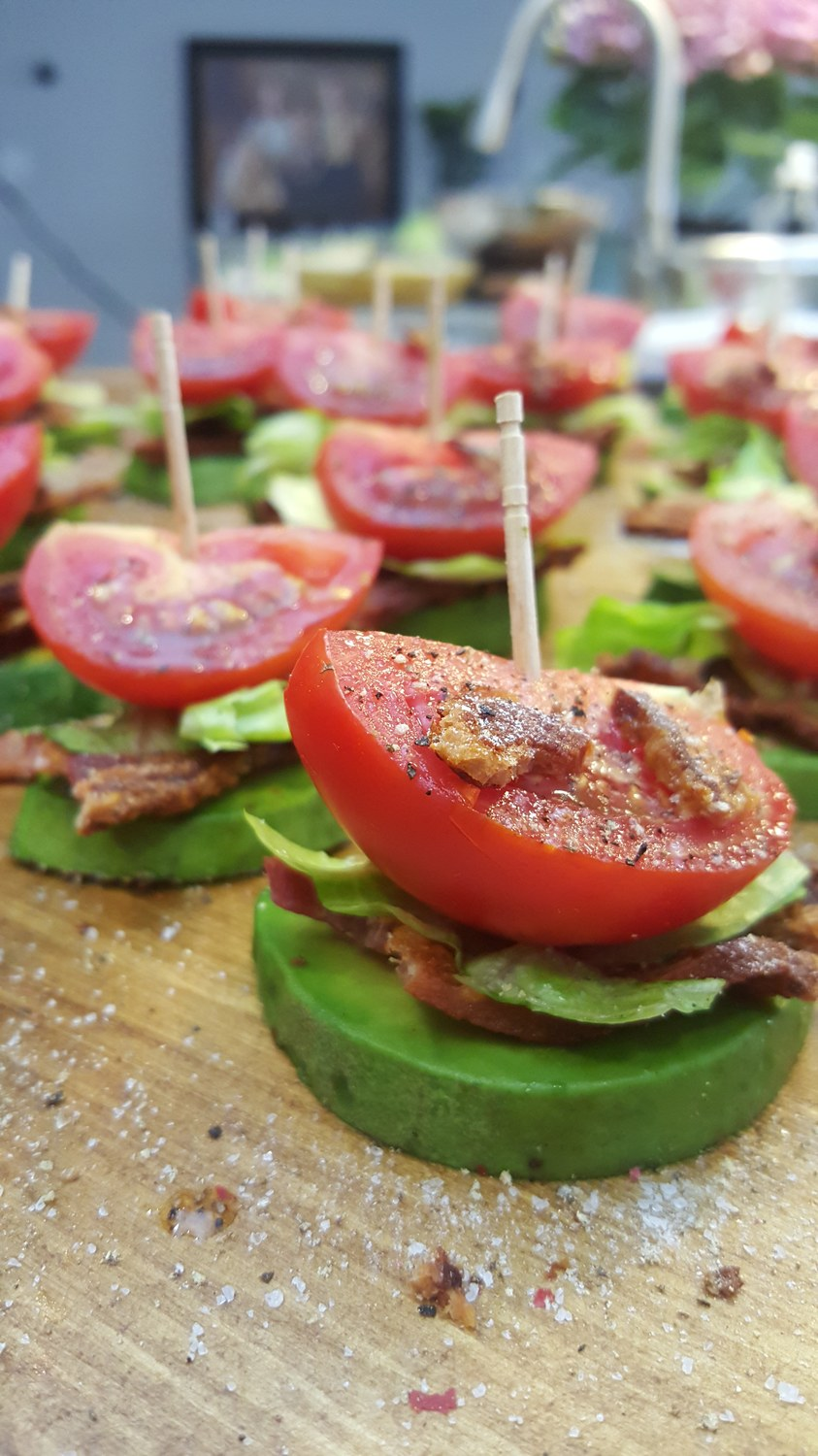 Eat Clean BLT Avocado Snacks