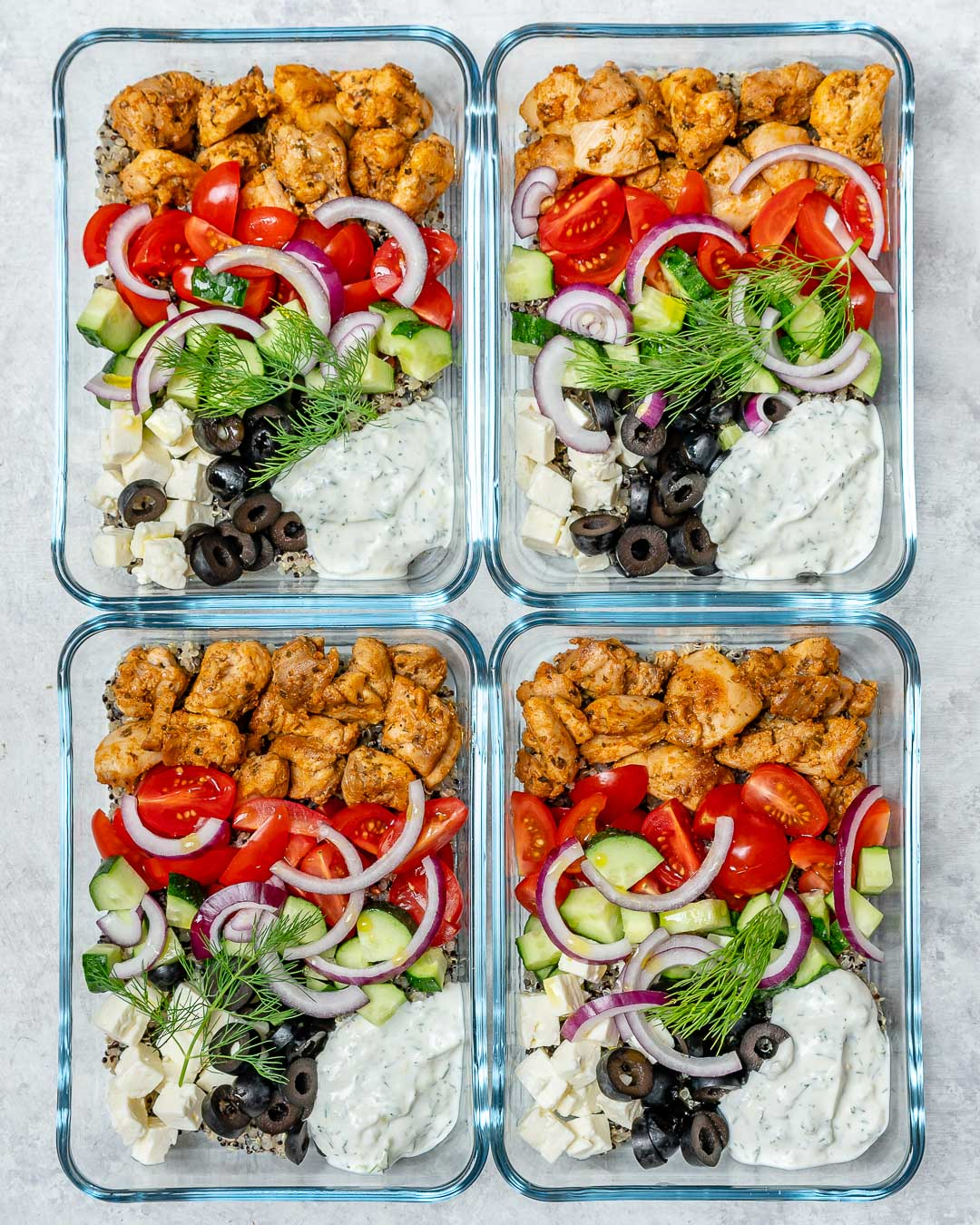Eat Clean Greek Chicken Bowls