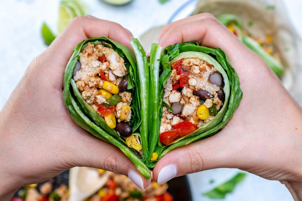Lettuce Wrapped Burritos Heart
