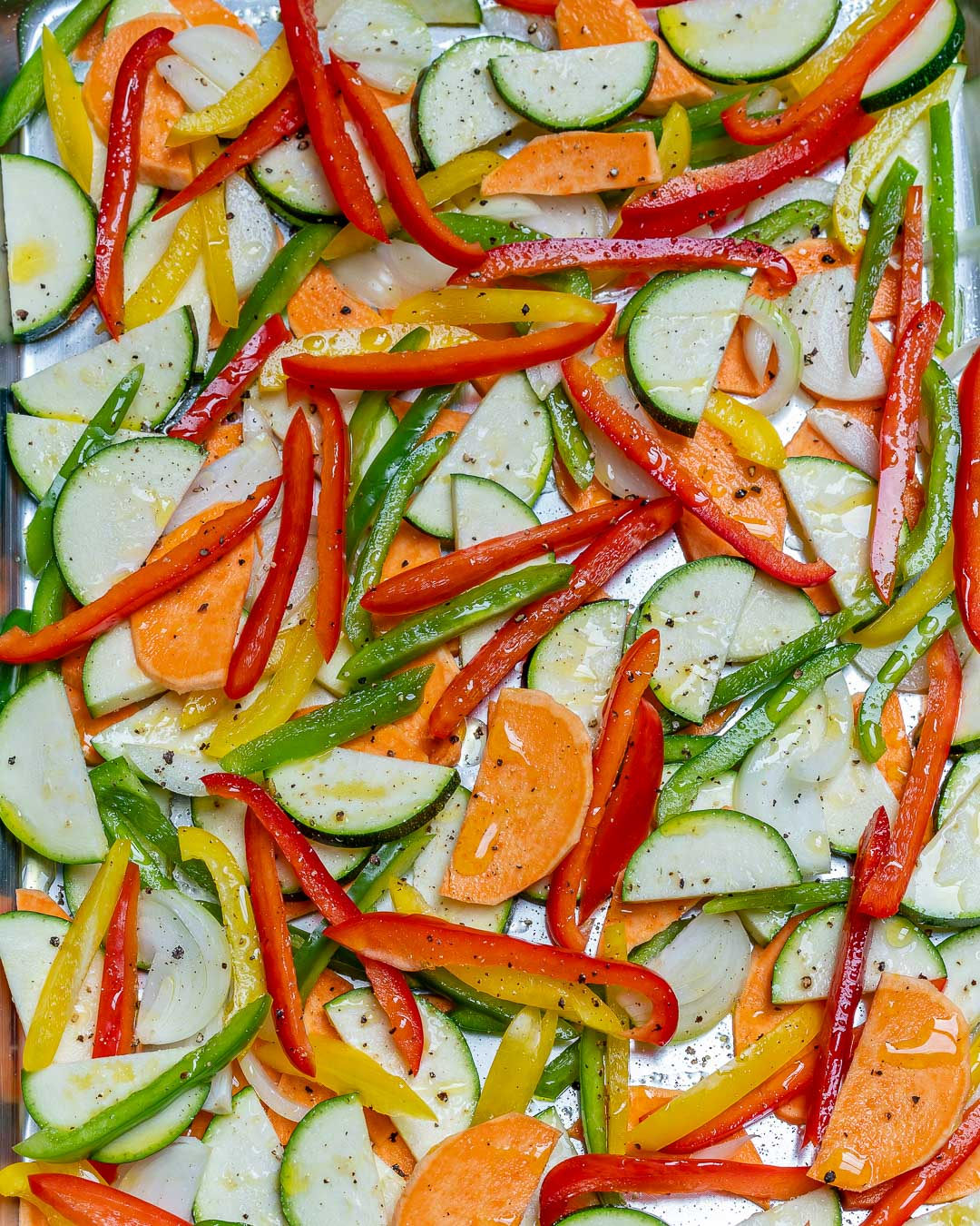 Eat Clean Sheet Pan Veggie Egg Bake