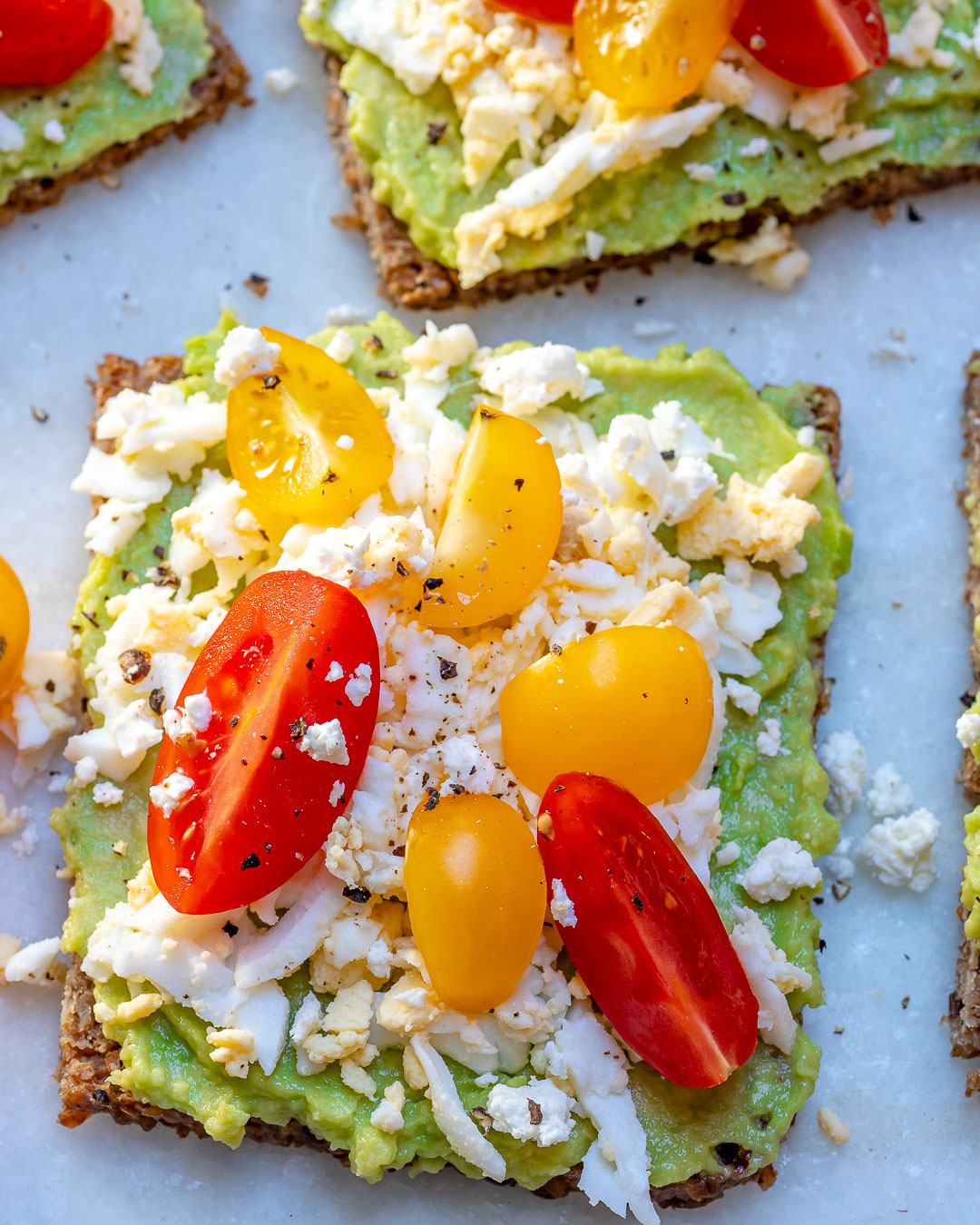 Grated Egg Avocado Toast Healthy Snacks