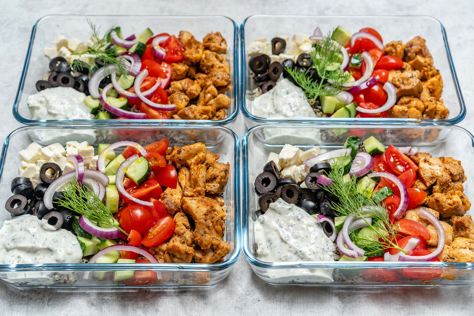 Greek Chicken Bowls Meal Prep