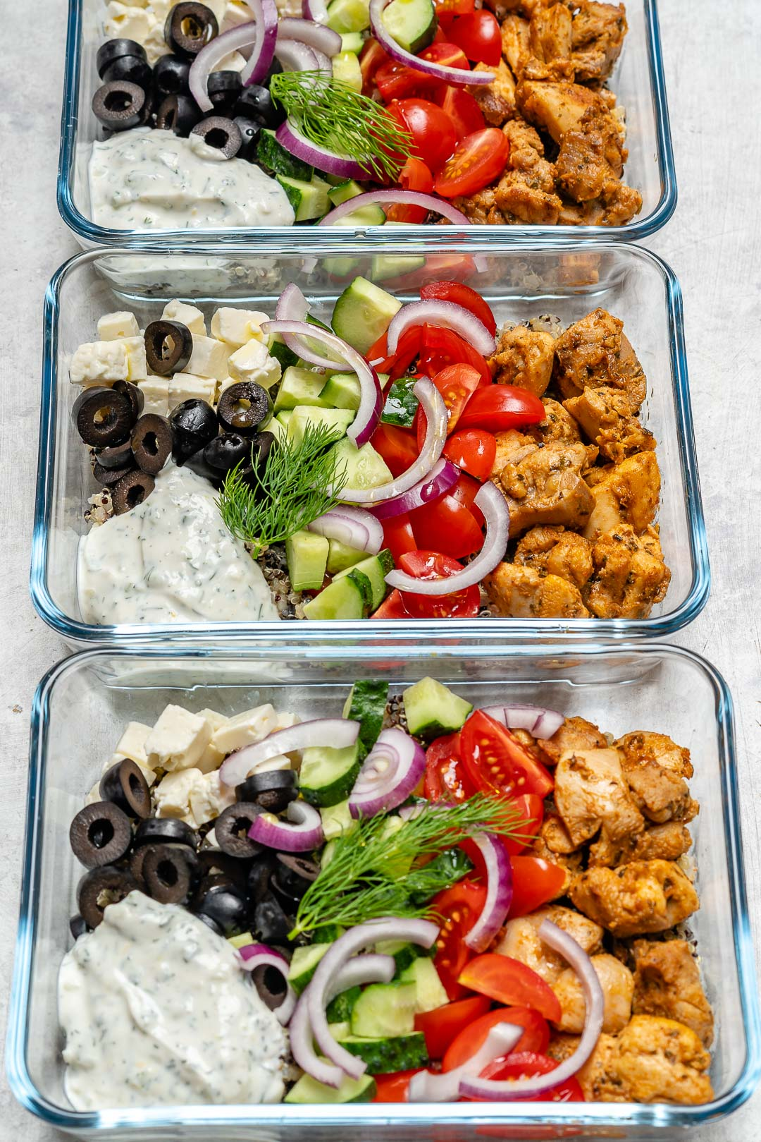 Greek Chicken Bowls Ingredients