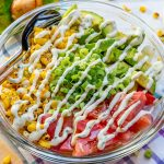 Healthy Grilled Corn Salad + Creamy Lime Dressing