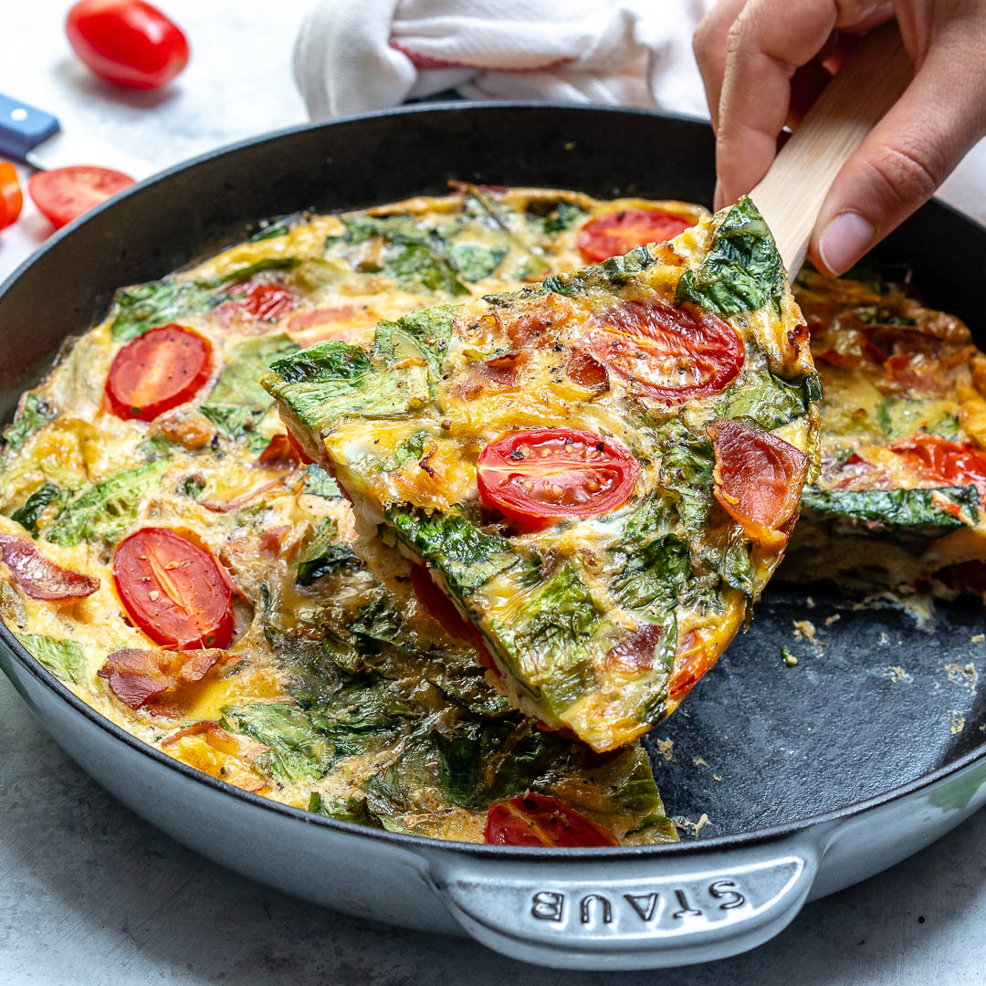 A Slice of Healthy Baked BLT Frittata