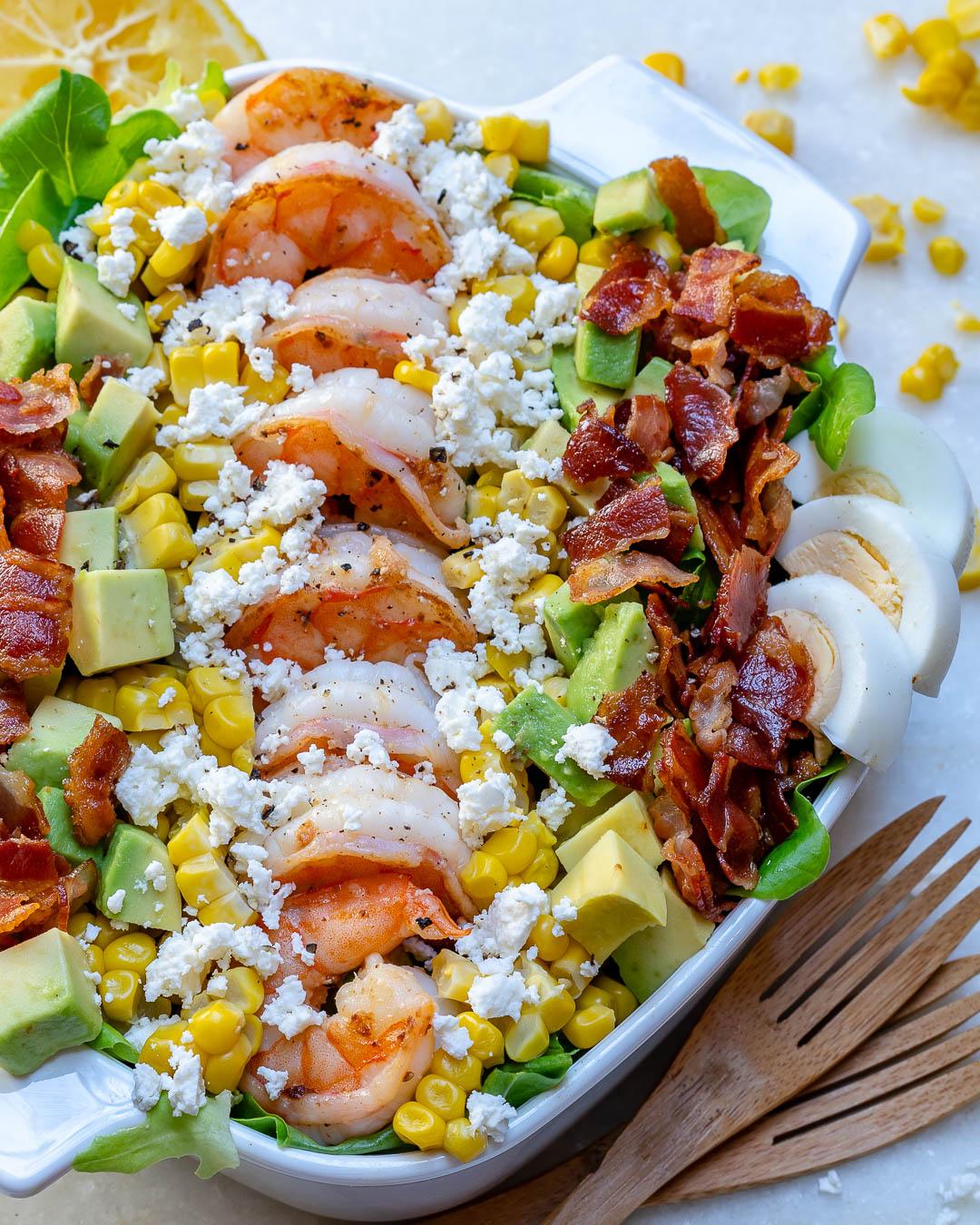 Ultimate Shrimp Cobb Salad Ingredients