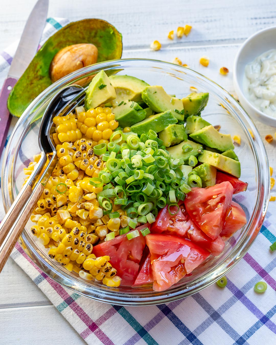 Grilled Corn Clean Eating Salad