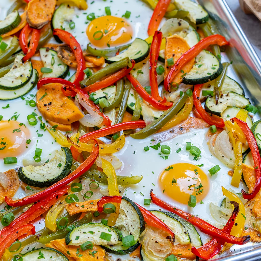 Bake Veggie Egg for Clean eating Breakfast