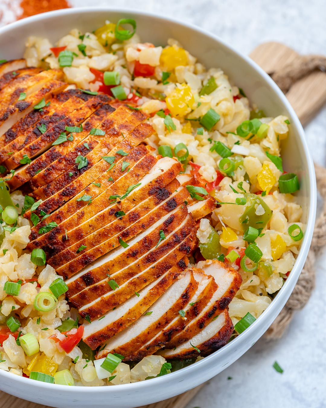 Paprika Sliced Chicken Rice Bowls Clean Eating Dinner