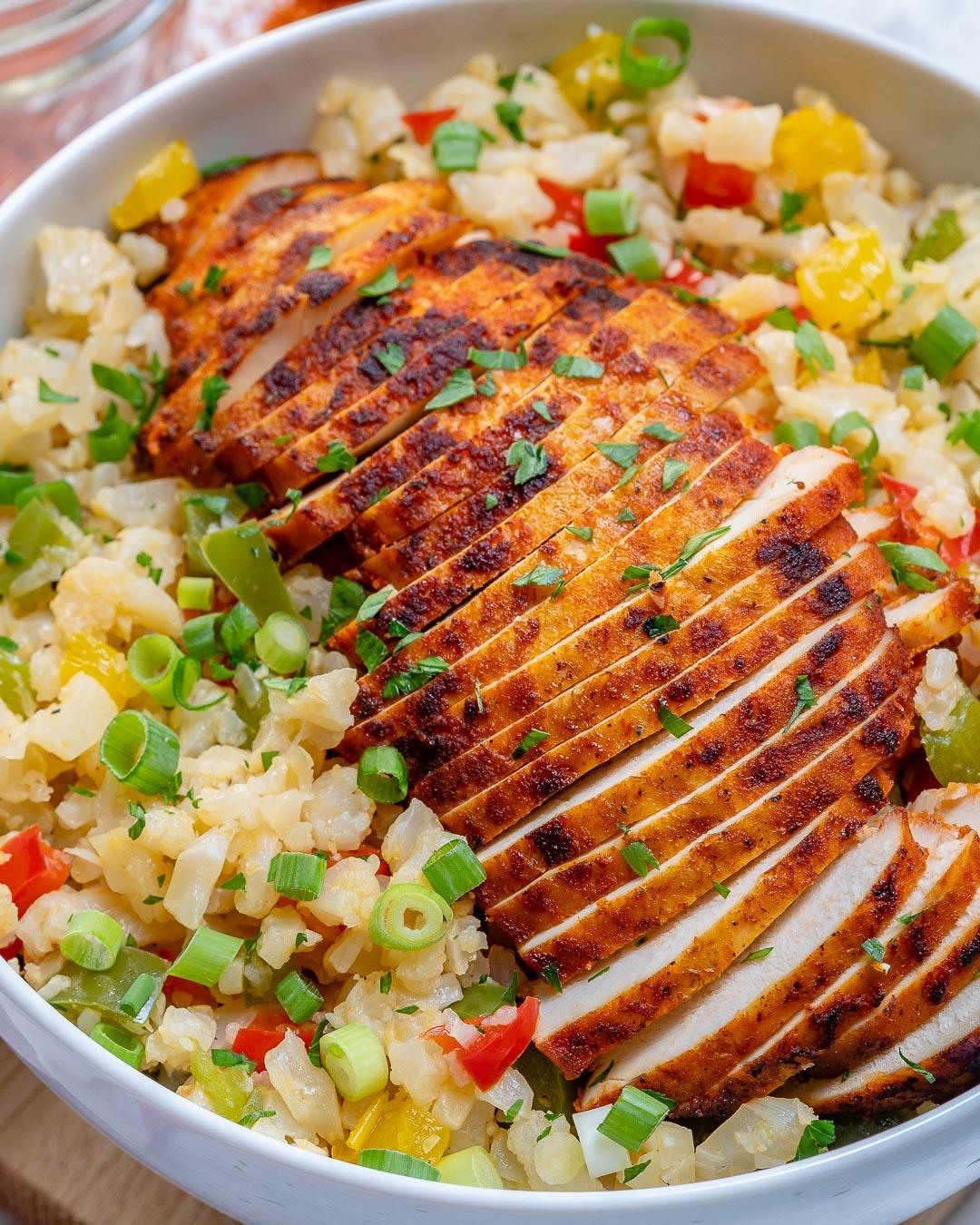 Paprika Sliced Chicken Rice Bowls Healthy Dinner
