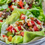 Tangy Grass-fed Beef Lettuce Wraps + Avocado Cilantro Cream Sauce Recipe