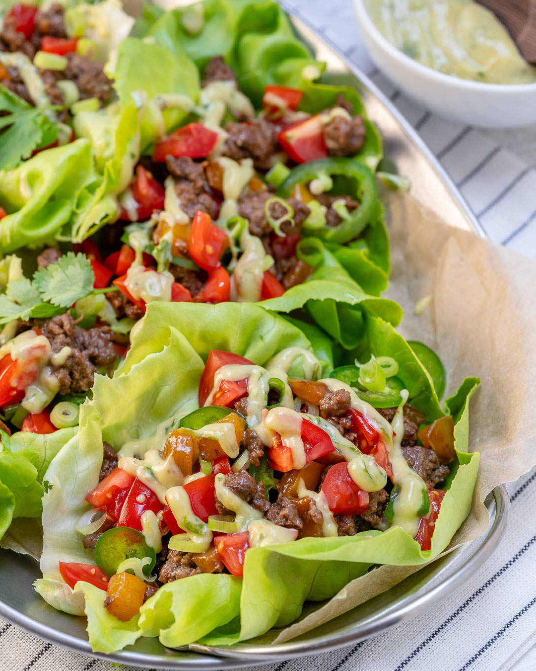 Clean Eating Tangy Grass-fed Beef Lettuce Wraps