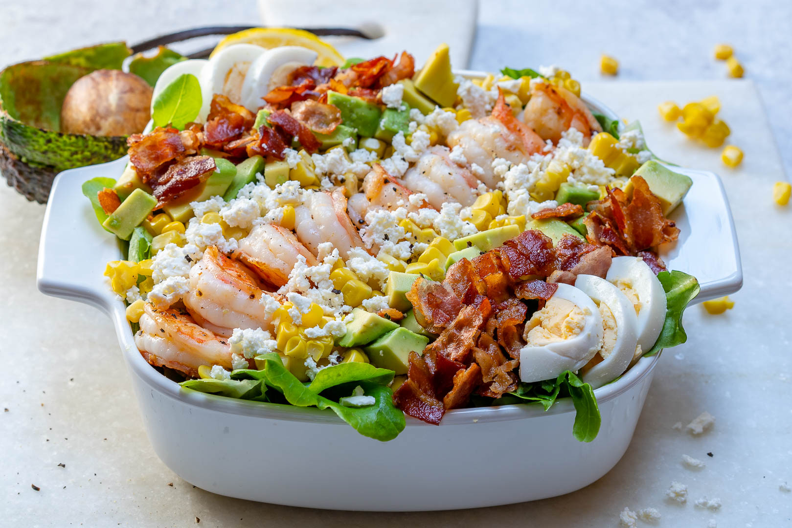 Ultimate Shrimp and Cobb Salad Plate