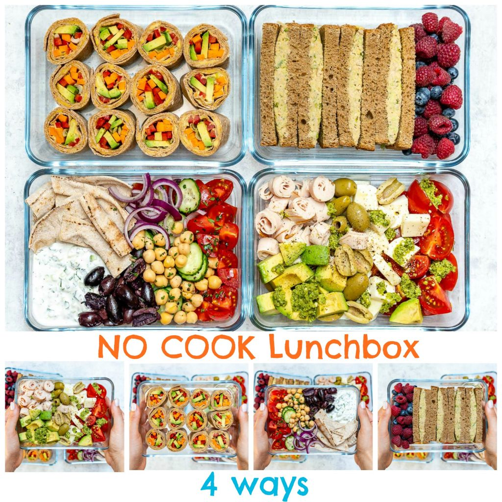 4 No-Cook Cold Lunch Box Recipes by CleanFoodCrush