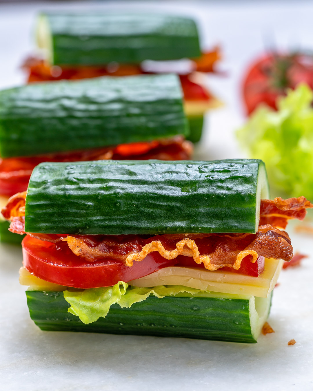 Clean Cucumber BLT Recipe