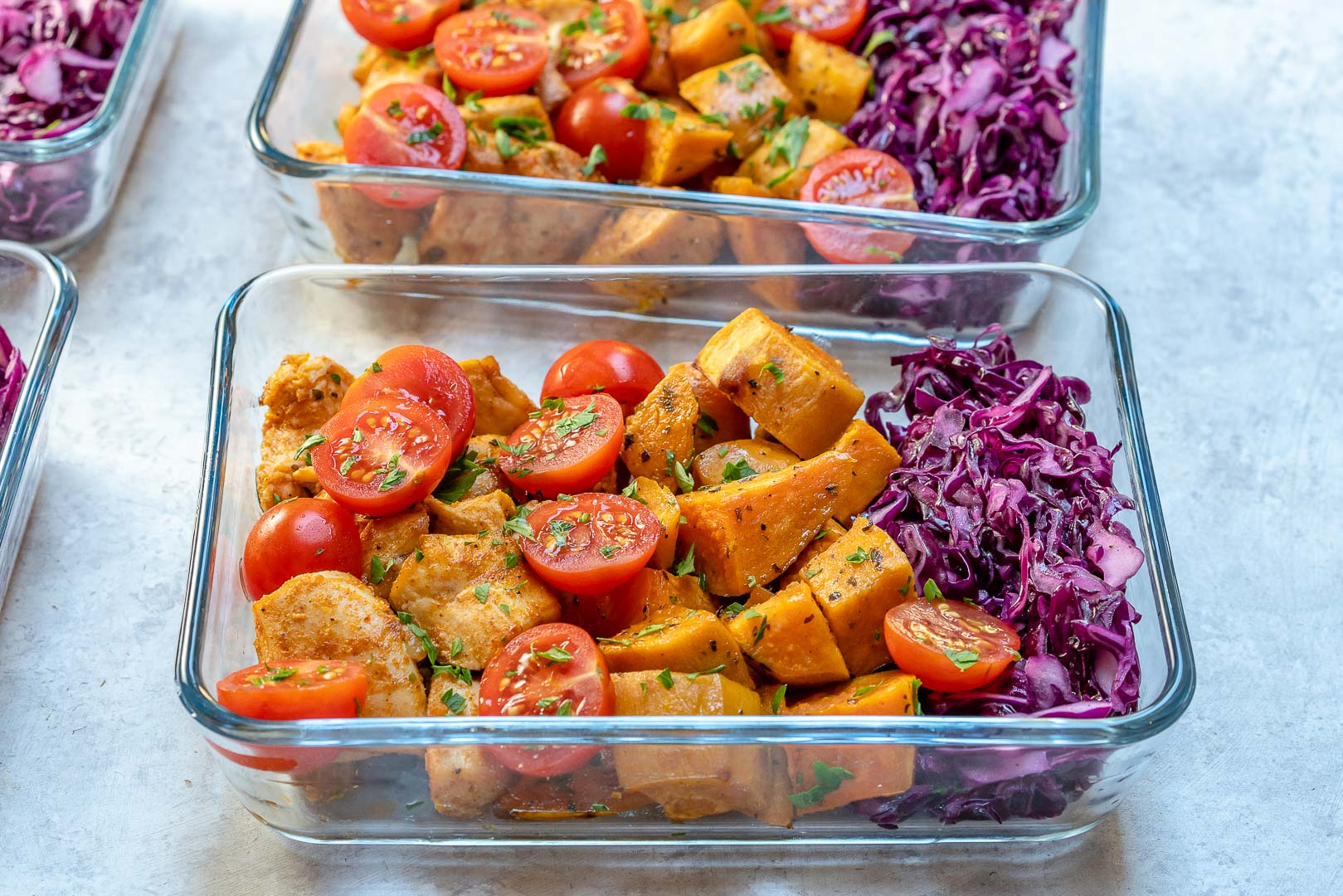 Clean Roasted Chicken Sweet Potato Meal Prep