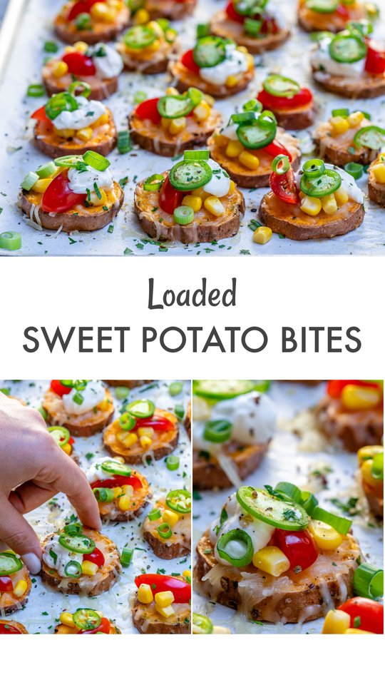 Clean Food Topped Sweet Potato Rounds