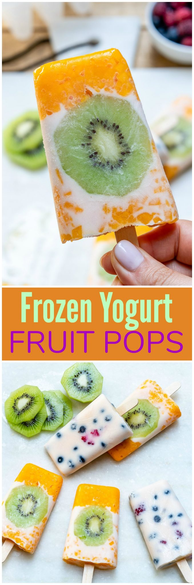 CleanFoodCrush Real Frozen Yogurt Fruit Popsicle