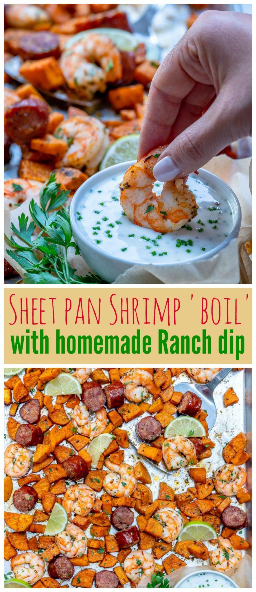 CleanFoodCrush Sheet Pan Shrimp Boil Ranch Sauce