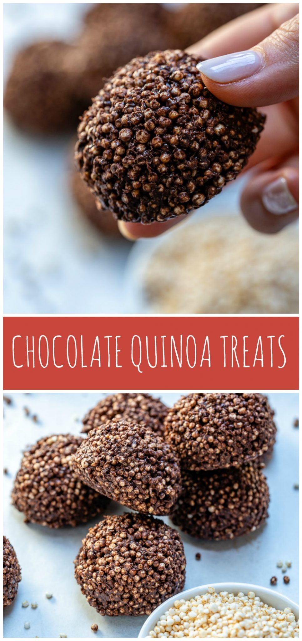 CleanFoodCrush No Bake Chocolate Quinoa Snacks