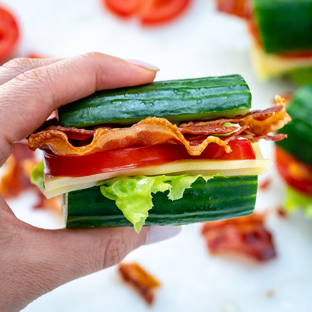 Healthy Cucumber BLTs Lunch Ideas