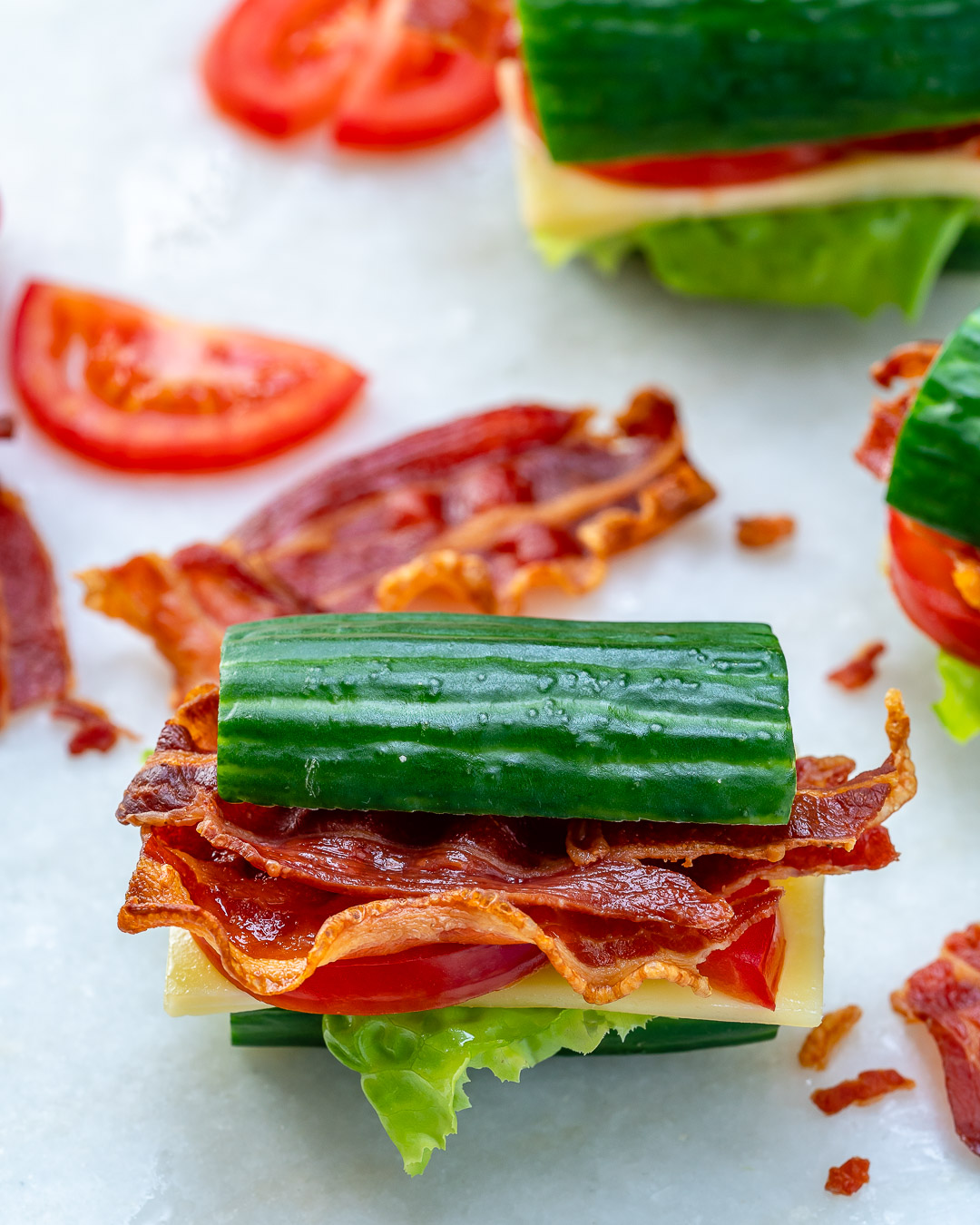 Clean Food BLT Cucumber Sandwich Ingredients