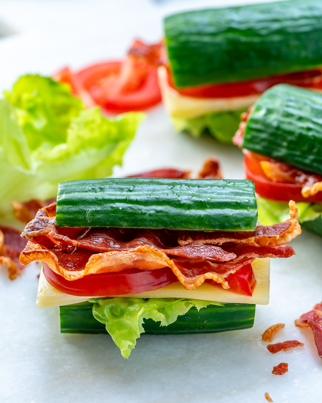 Cucumber BLTs Clean Eating