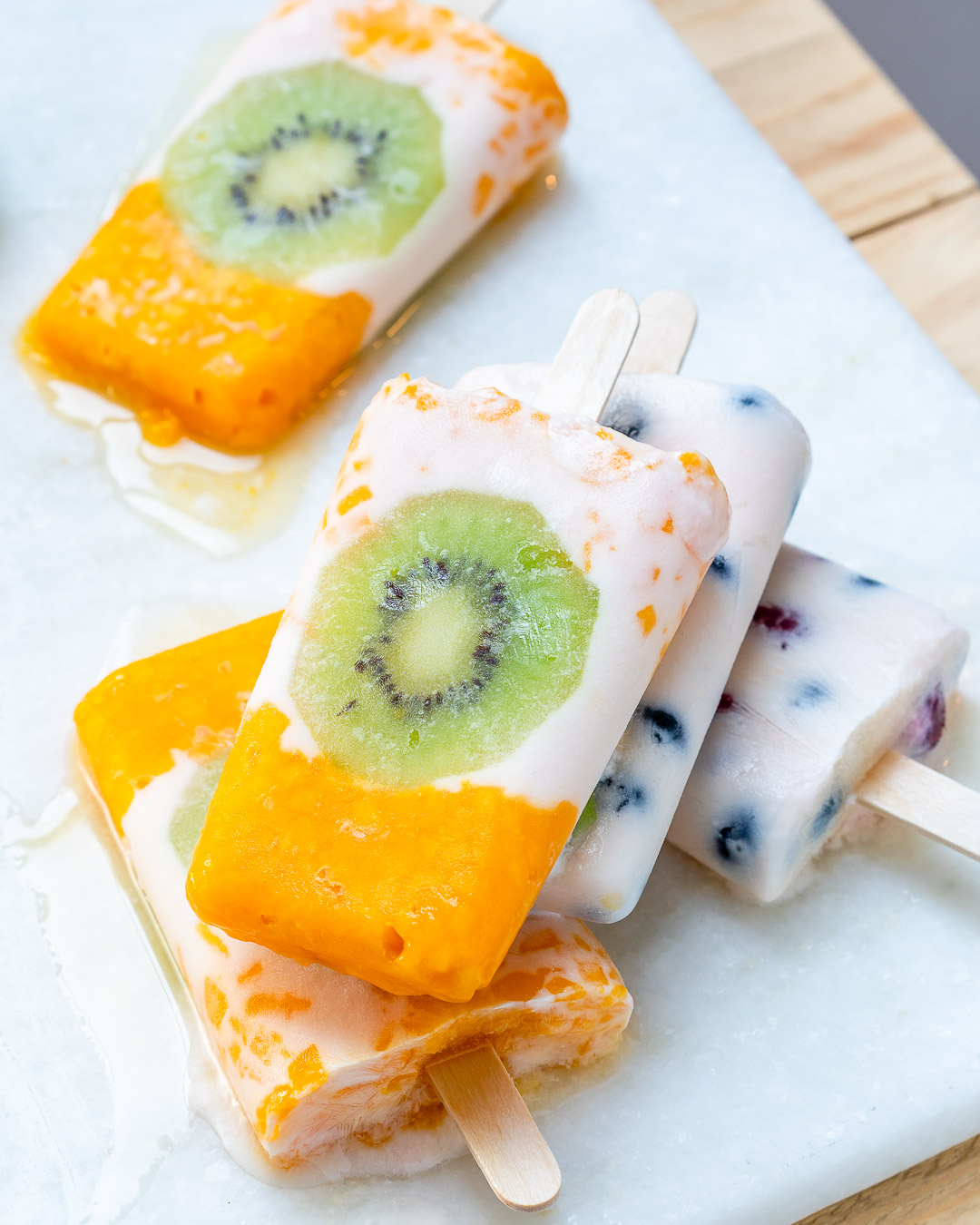 Healthy Frozen Yogurt Fruit Pops