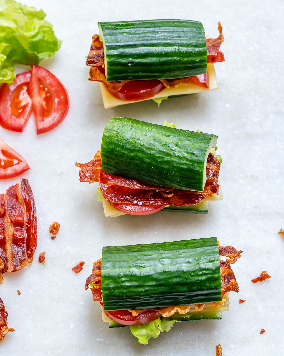 Eat Clean Cucumber BLTs
